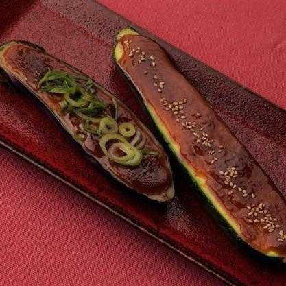 茄子とズッキーニの田楽味噌グリル