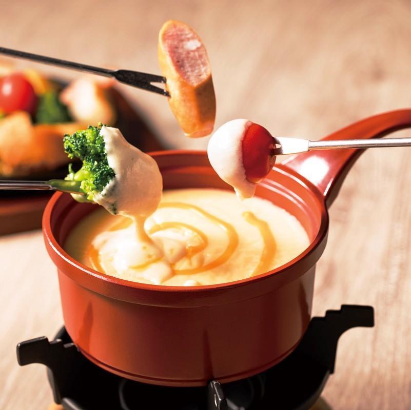 グリル野菜のチーズフォンデュ(パン・温野菜付き)