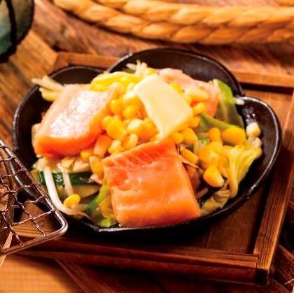 鮭ハラスのちゃんちゃん焼き