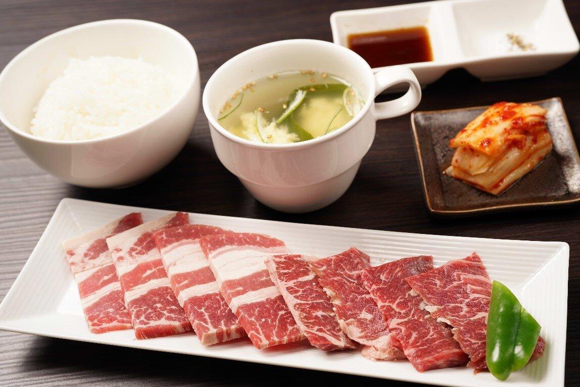 【W焼肉定食】牛カルビ&牛ハラミ