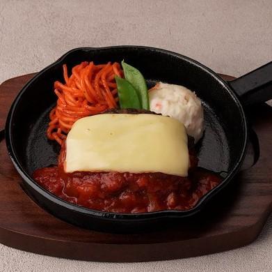選べるソースのおつまみハンバーグ~チーズ&トマトソース~