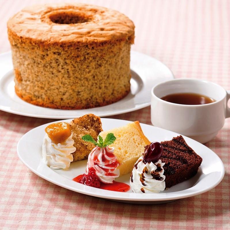3種のシフォンケーキ