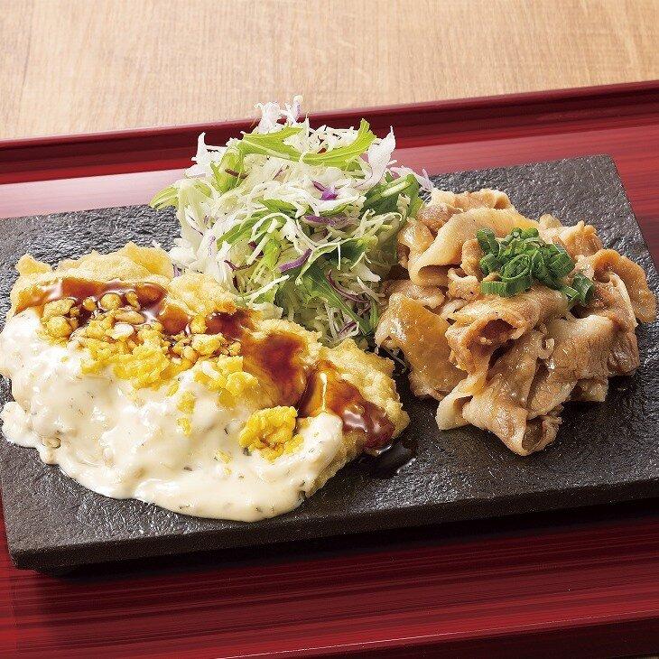 ダブルチーズハンバーグ&生姜焼き