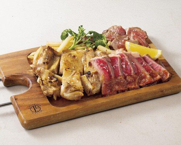 銀座ライオンLEOの肉盛り