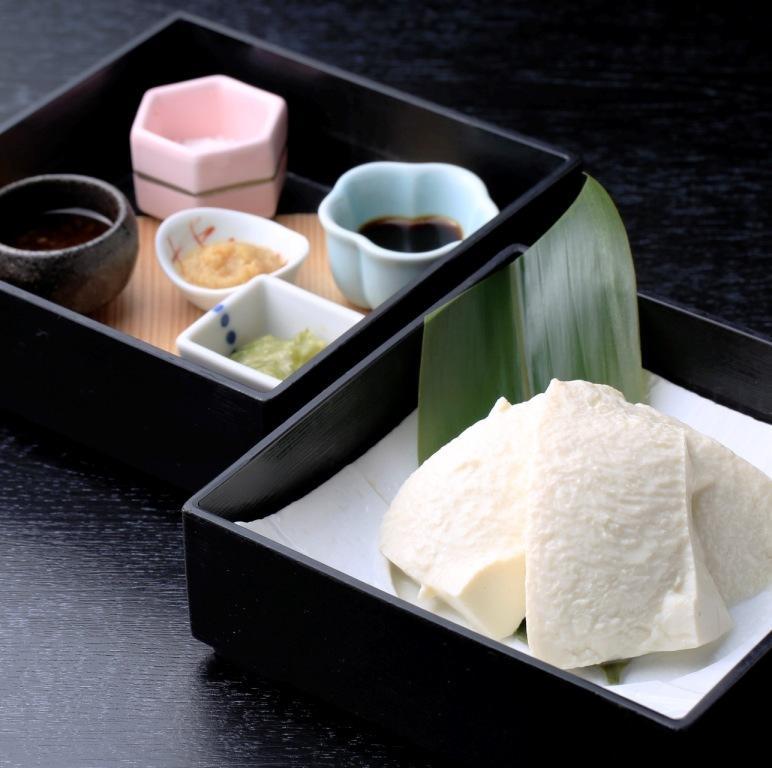 手造り豆腐 薬味色々