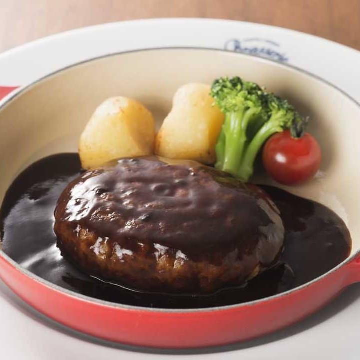 ビーフハンバーグステーキ デミグラスソース