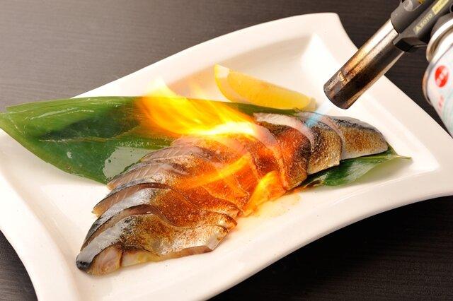 金華鯖の炙りスモーク