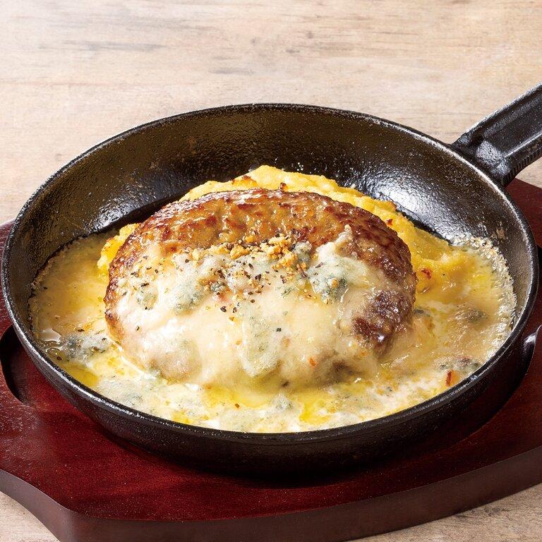チーズソースハンバーグ