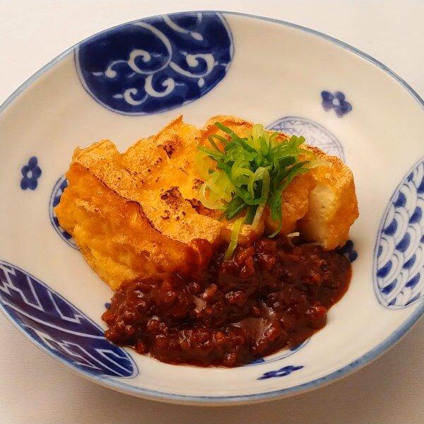 厚揚げ豆腐~肉味噌掛け~
