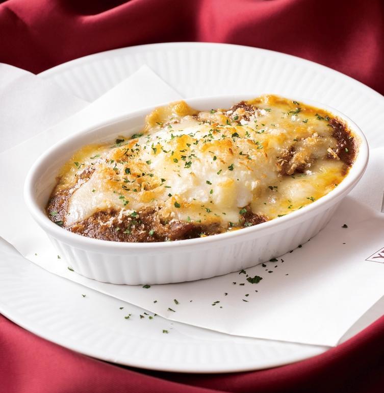 ヱビス煮込みのモツカレー チーズ焼き