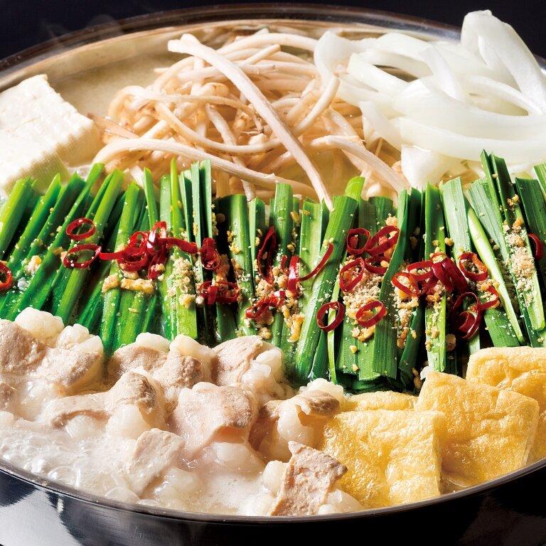 博多もつ鍋(醤油味または味噌味)