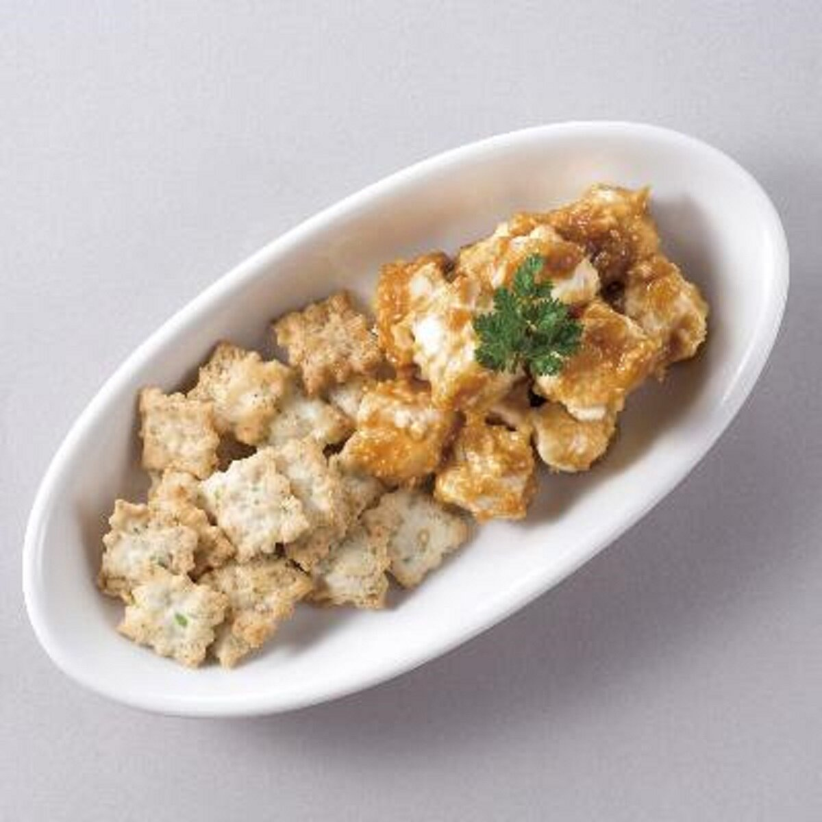 クリームチーズの山葵味噌和え&山葵クラッカー