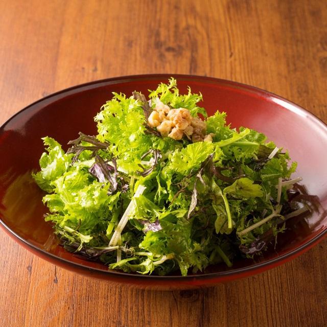 オリーブオイルとお塩で食べるサラダ