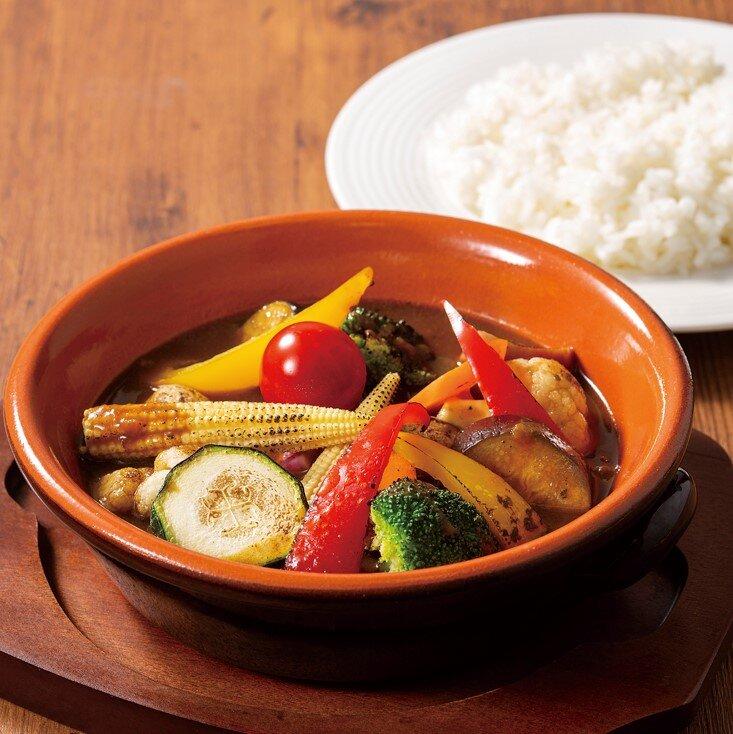 グリル野菜のスープカレー
