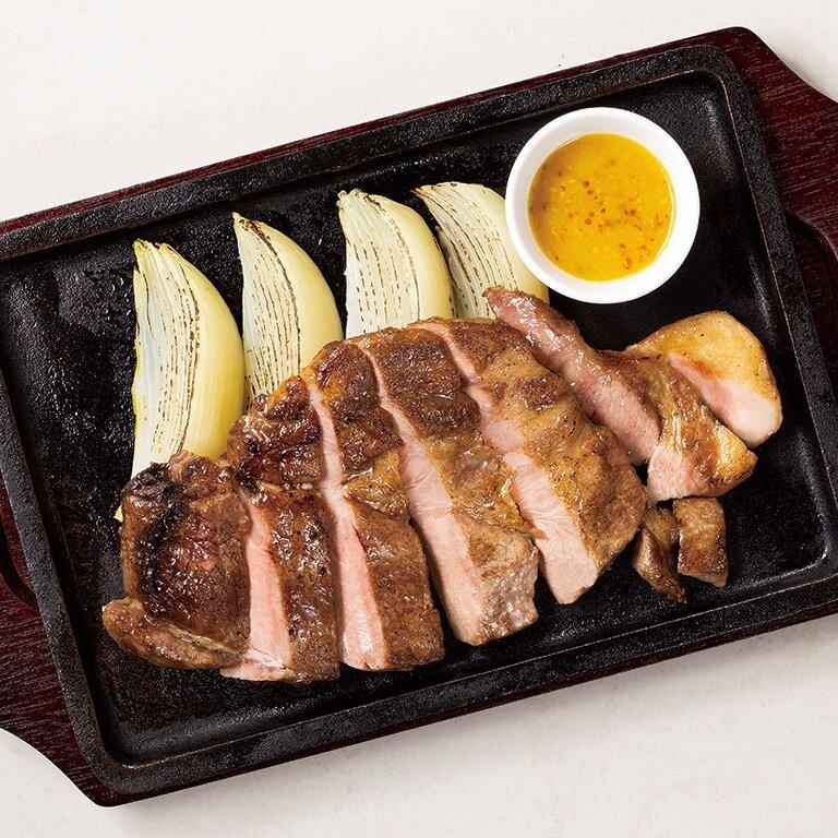 山形豚のステーキ ハニーマスタードソース