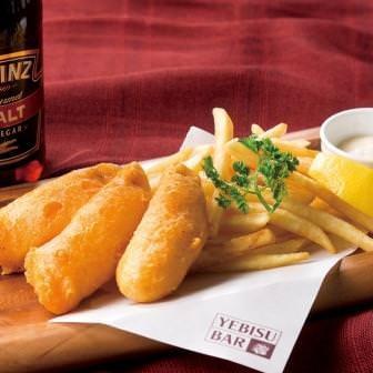 真鯛のフィッシュ&チップス