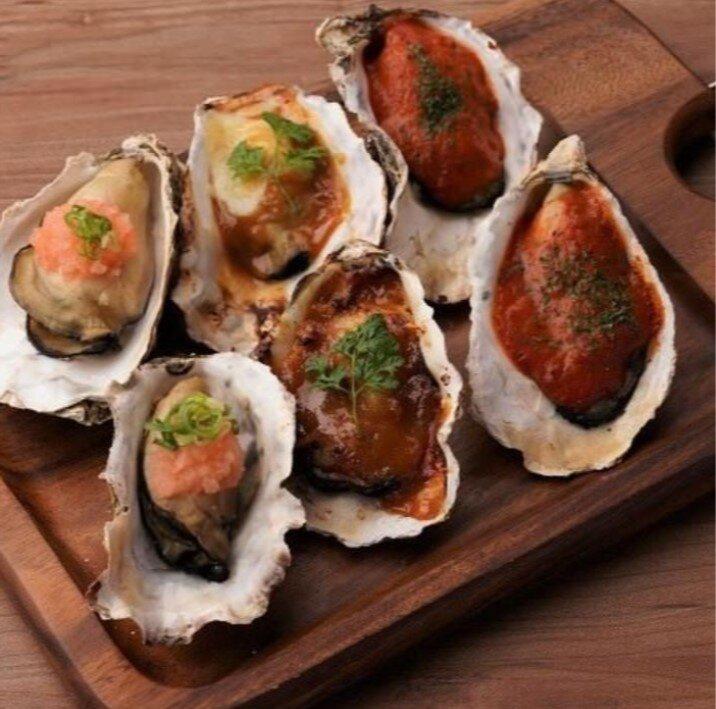 瀬戸内海産牡蠣の殻焼き
