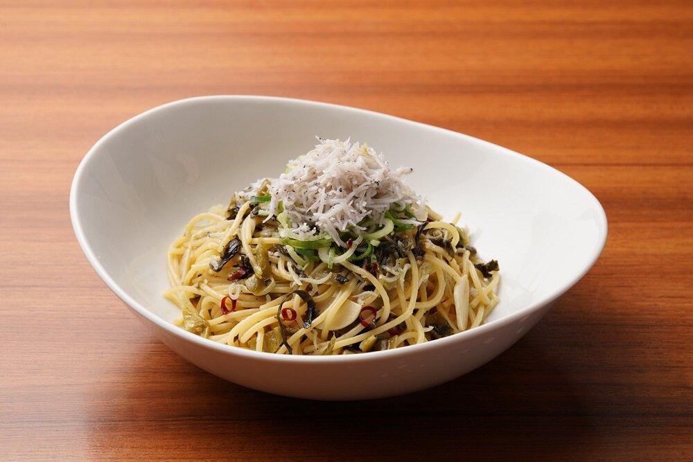 辛子高菜としらすのペペロンチーノ