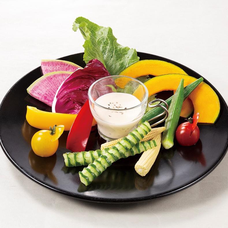 季節野菜のスティック ペッパーチーズソース