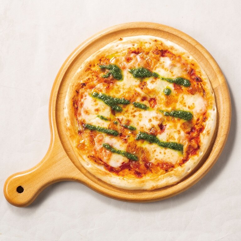 モッツァレラチーズのピザ