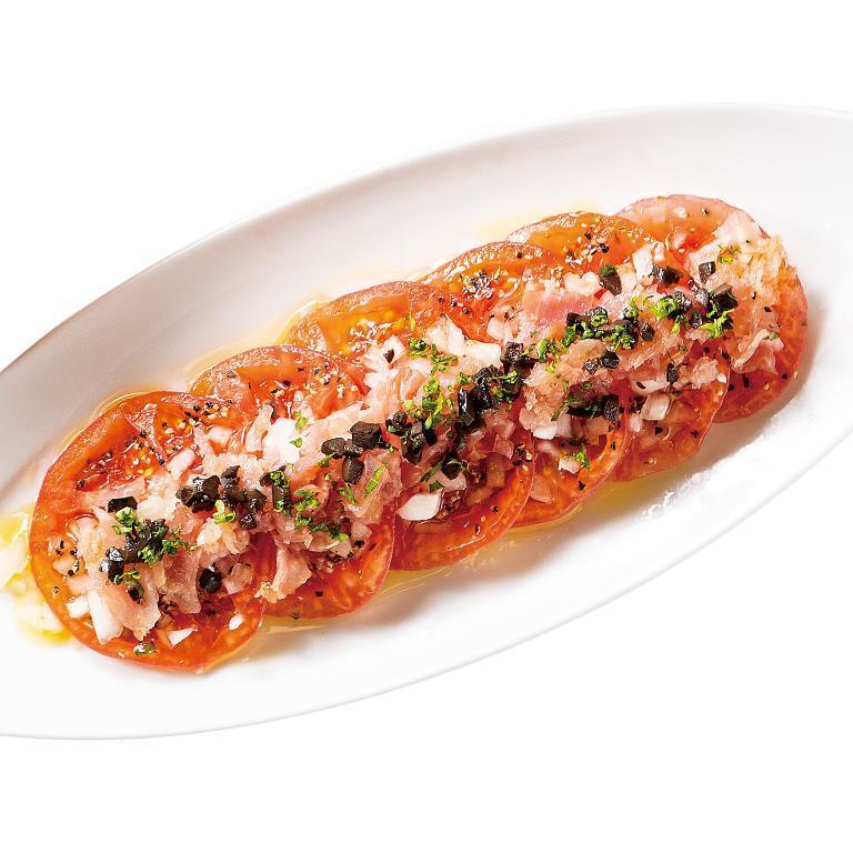 トマトと生ハムのカルパッチョ