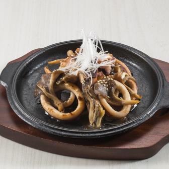 イカと舞茸のにんにく醤油炒め