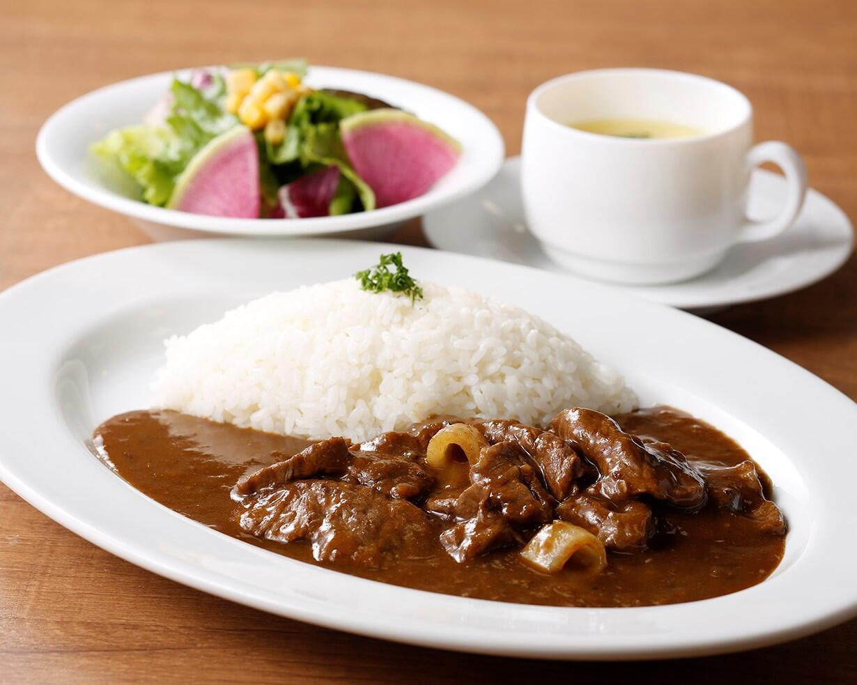 和牛のビーフカレー <スープ・サラダセット> サラダ/スープ付き