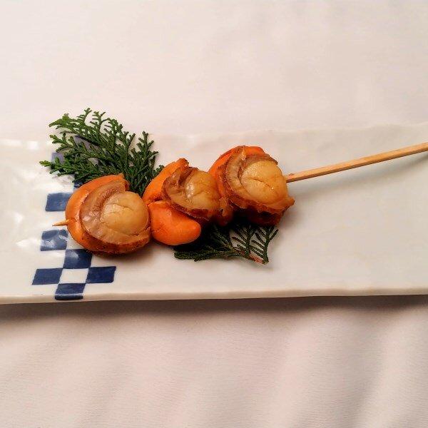 北海道産 帆立串の炙り焼き