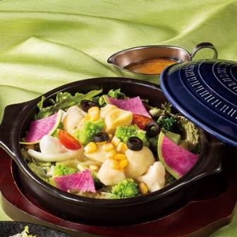 10品目の蒸し野菜サラダ