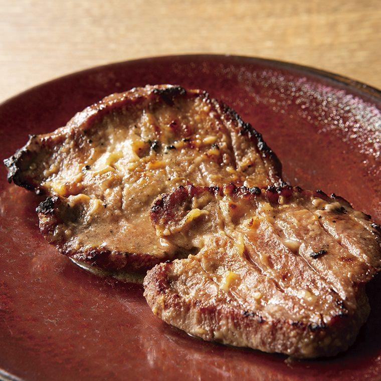 牛タンの西京網焼き