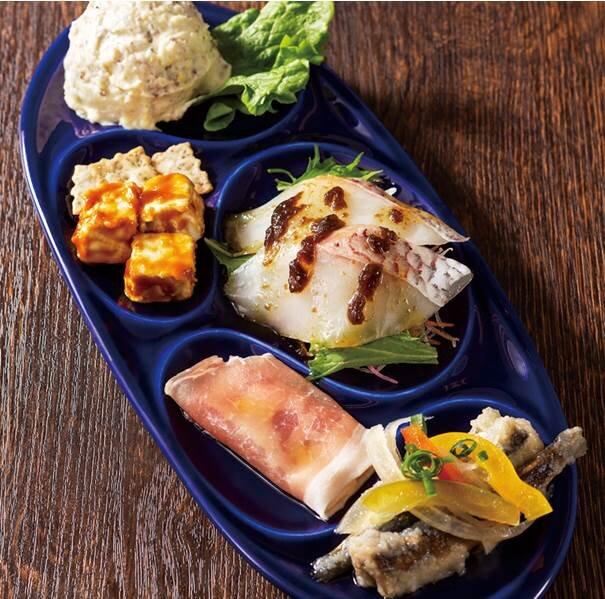 YEBISU BARの前菜5種盛合せ