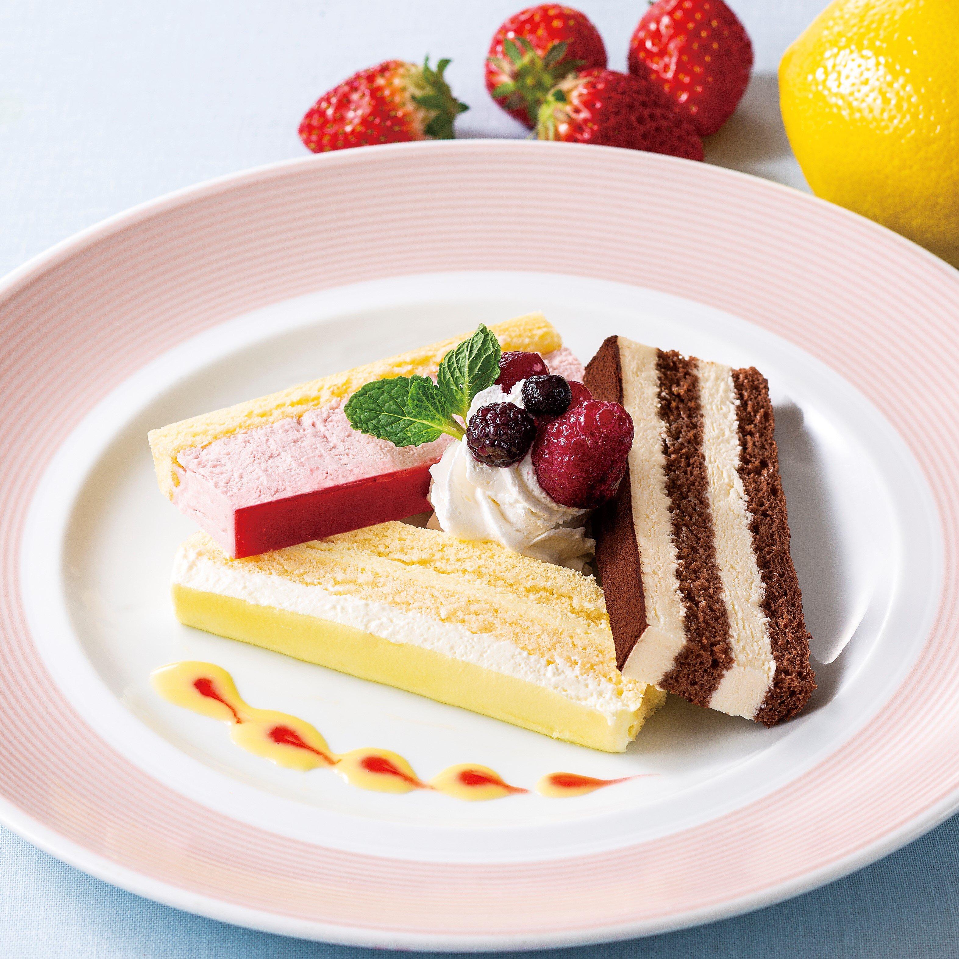 【選べる】ケーキ3種盛合せ