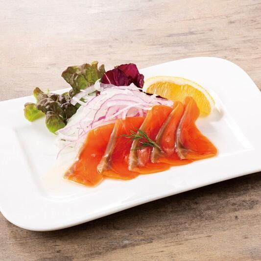 銀鮭のスモークサーモン