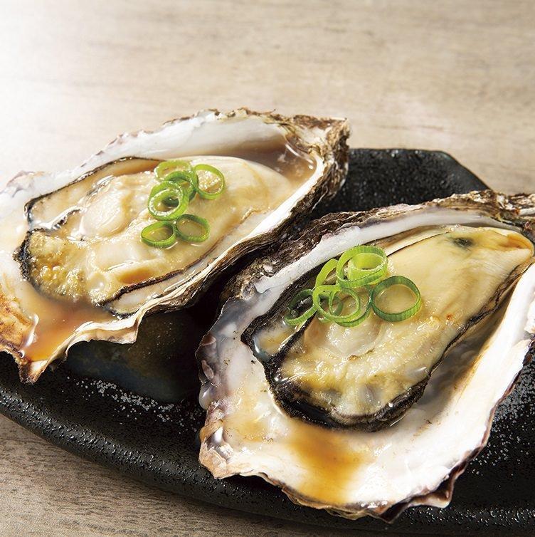 瀬戸内産牡蠣の殻焼き