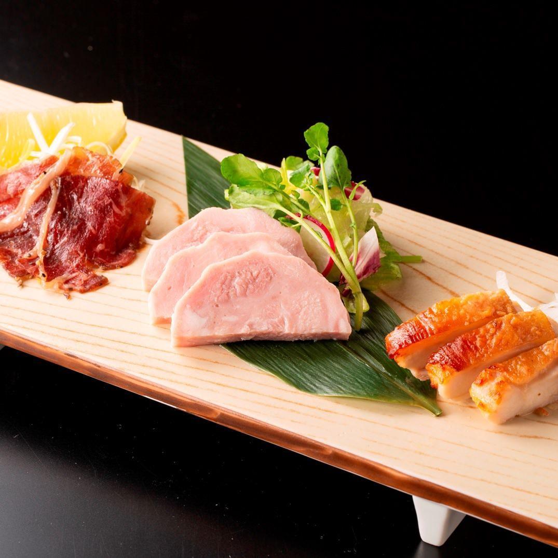 東海三県 肉の肴3種盛