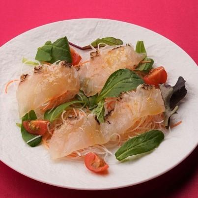みかん鯛のカルパッチョ 塩みかんソース