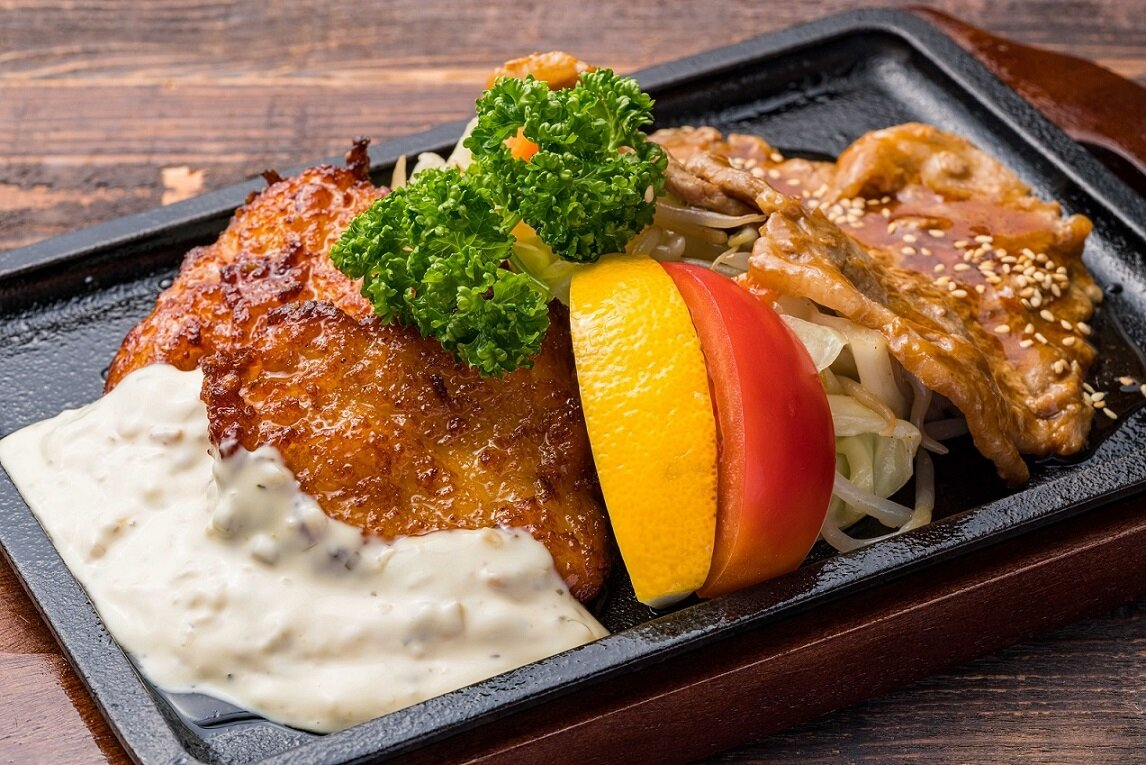 チキン南蛮&生姜焼きセット