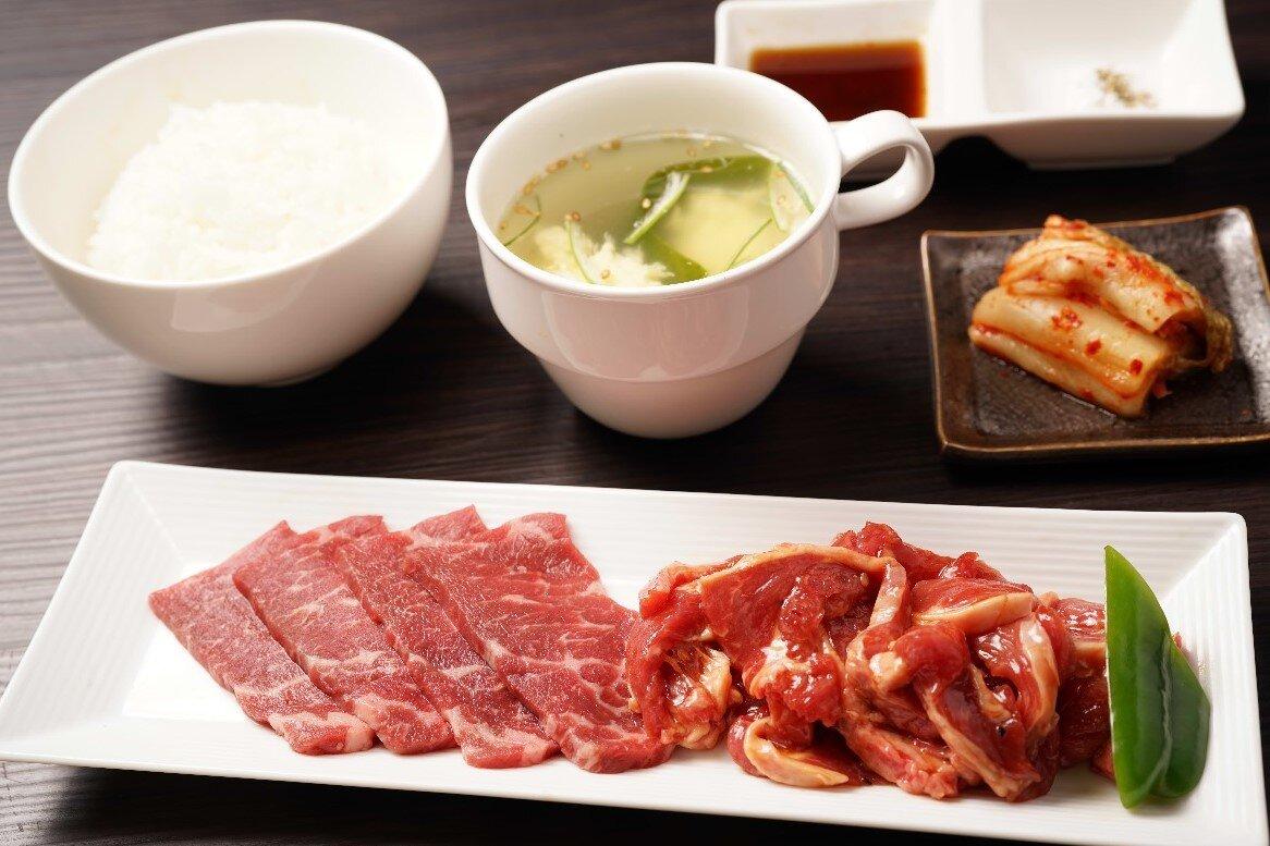 【W焼肉定食】牛ロース&ラム