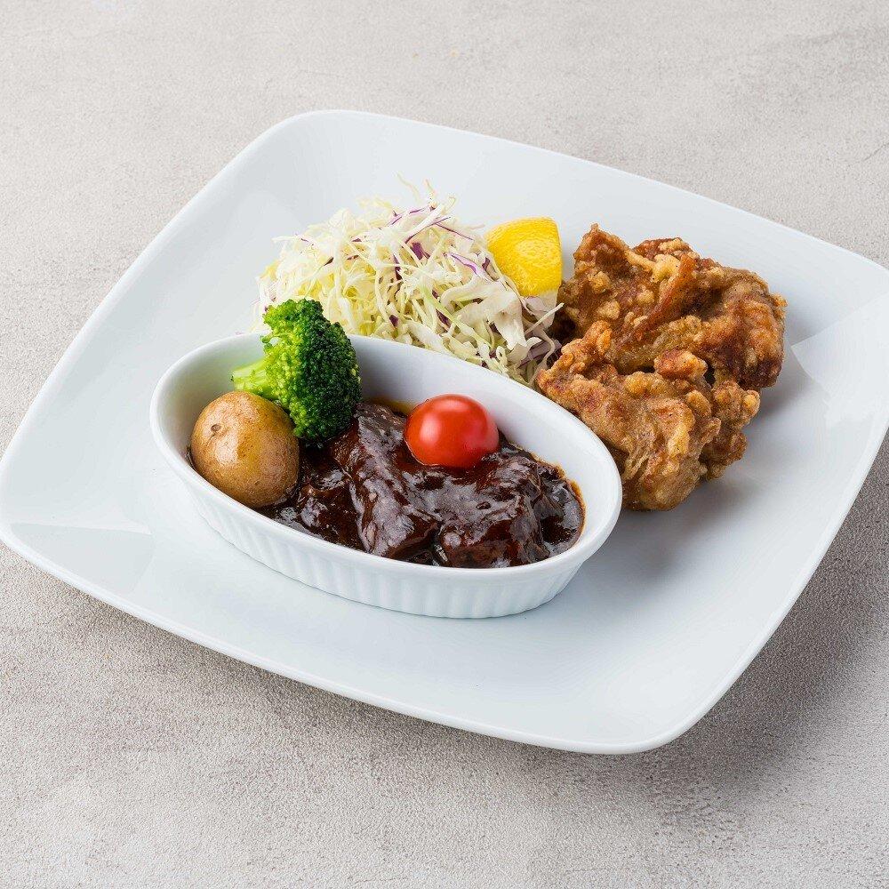 ビーフシチュー&国産鶏の唐揚げ