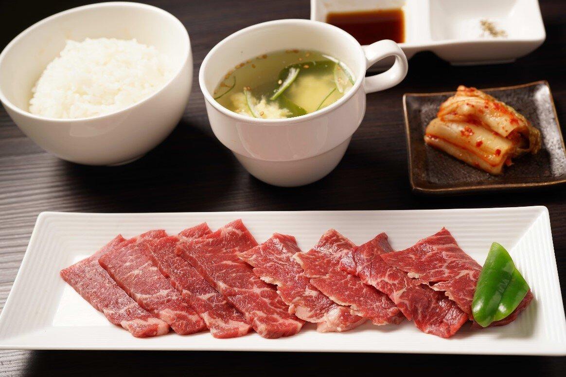 【W焼肉定食】牛ロース&牛ハラミ