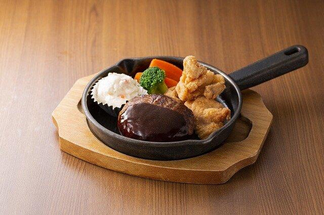 ハンバーグ&チキン唐揚げ