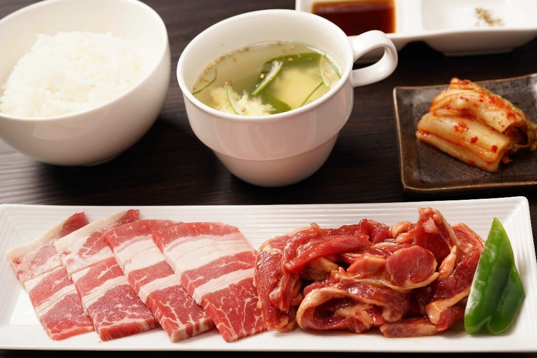 【W焼肉定食】牛カルビ&ラム