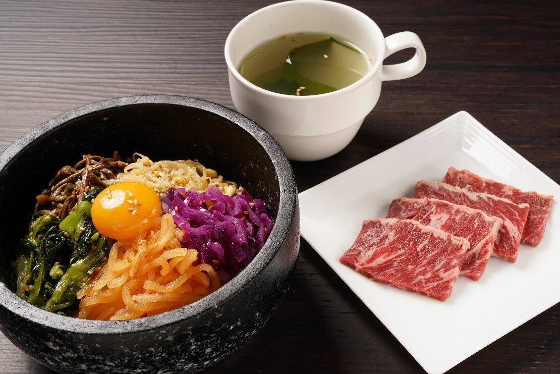 【昼の石焼】石焼ビビンバ&牛ハラミ焼肉