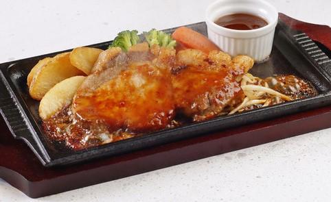 豚ロースステーキ御膳 ライス&味噌汁付