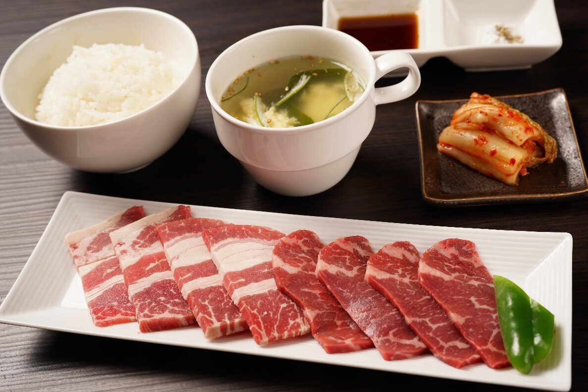 【W焼肉定食】牛カルビ&牛ロース