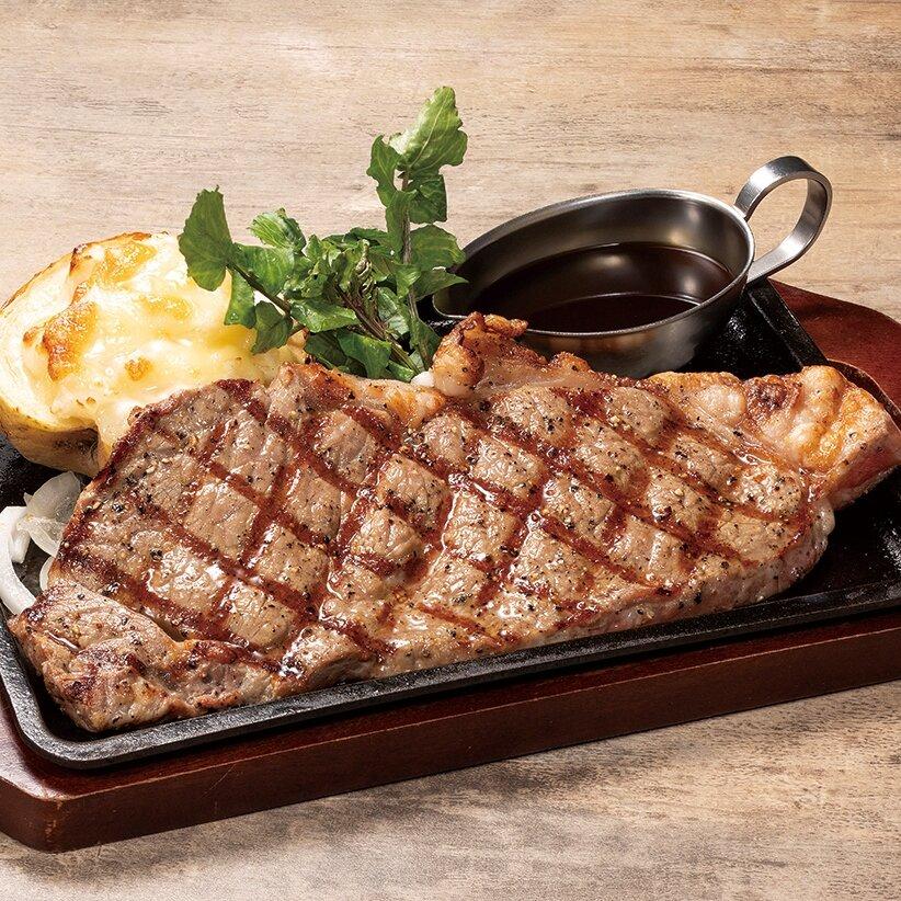 アンガス牛サーロインステーキランチ ライスorパン