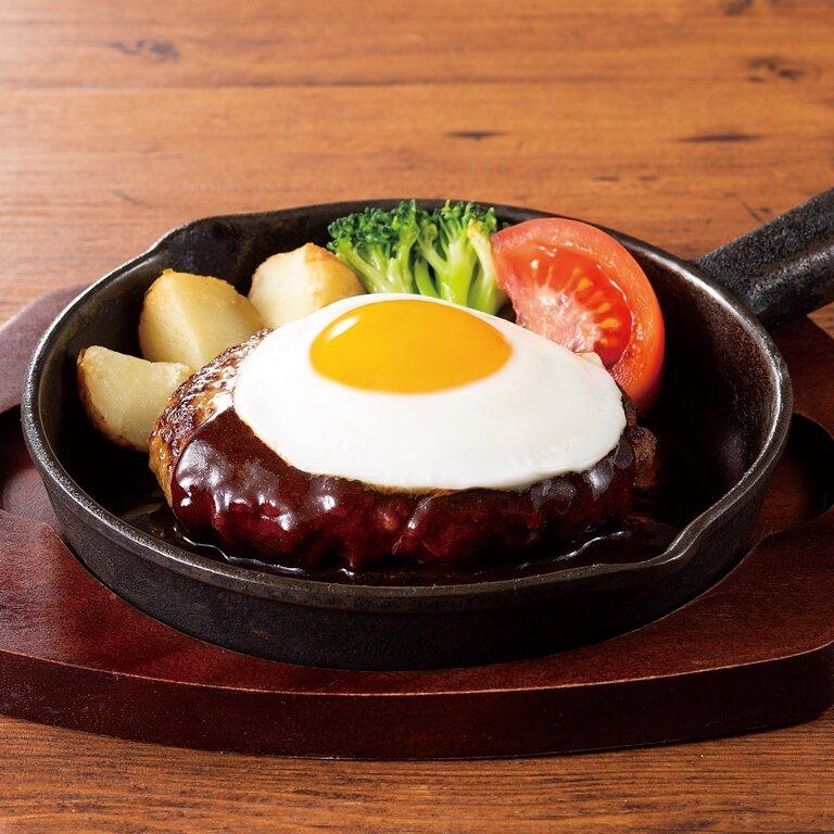 目玉焼き ビーフハンバーグ <選べる!>ライス・パン・サラダ