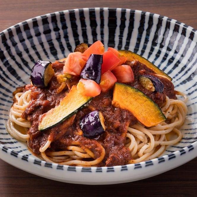 ごろごろ野菜のミートスパゲティ