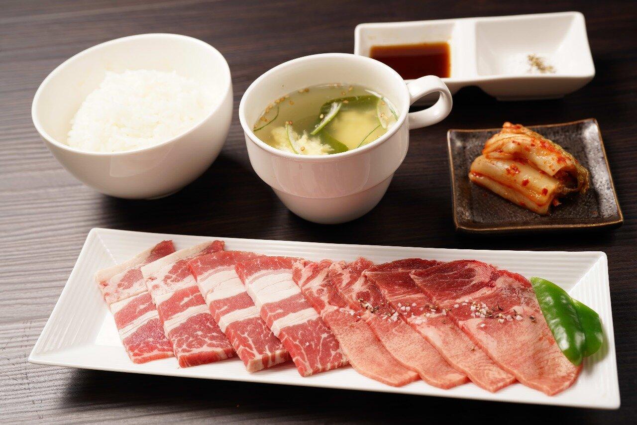 【W焼肉定食】牛カルビ&牛タン