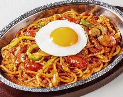 炒めスパゲティ ナポリタンスパゲティ
